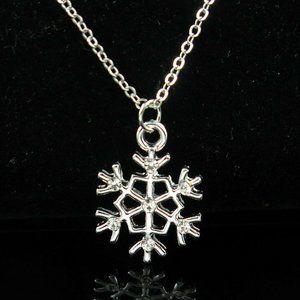 Jewelry - NEW Minimalist Silver Snowflake Pendant Necklace